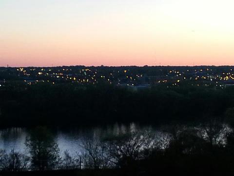 View of the James river and Richmond from the Bitter Liberals concert 4.13.13.