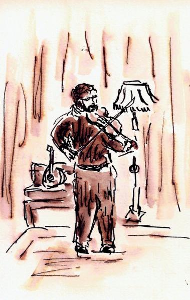 gem fiddle.  Sketch by Joel Winstead.