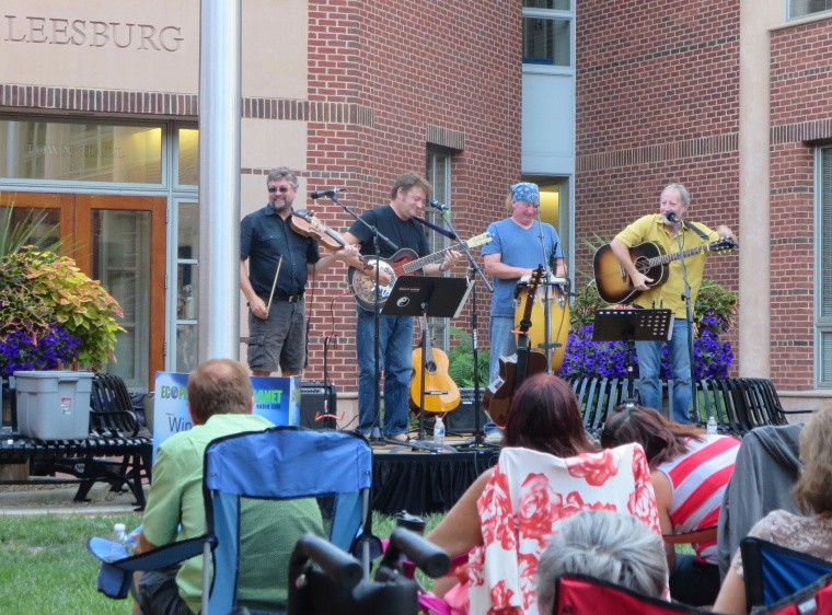 The Bitter Liberals in Leesburg, VA at the award willing Acoustic on the Green series.