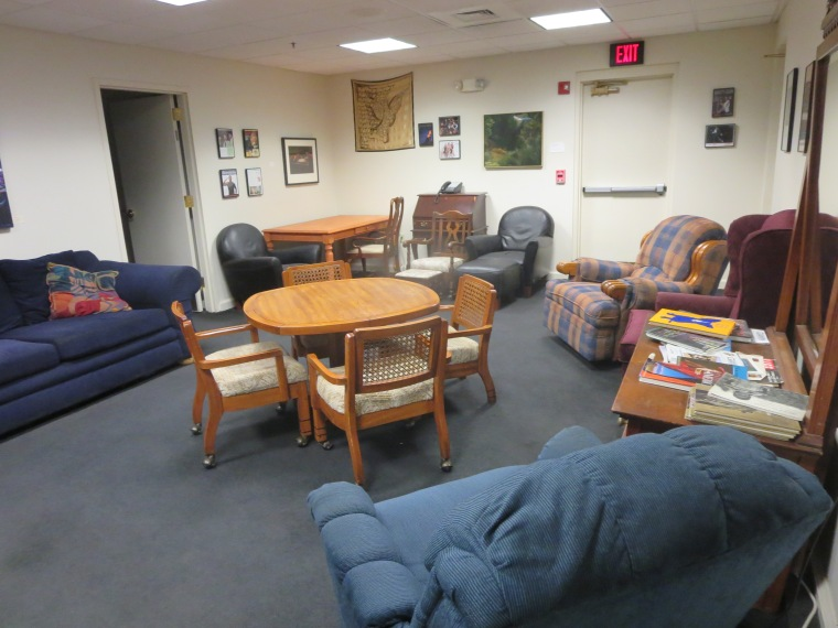 One of the many backstage areas