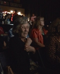 Mike Jewell's mom enjoys the show.