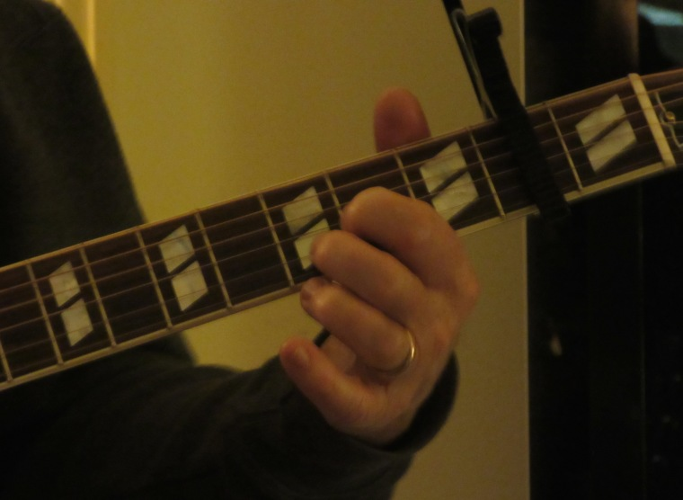 Clark has a new guitar