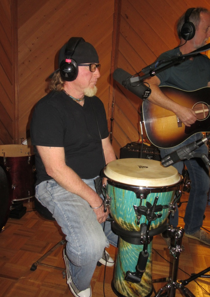 Mikey in the studio